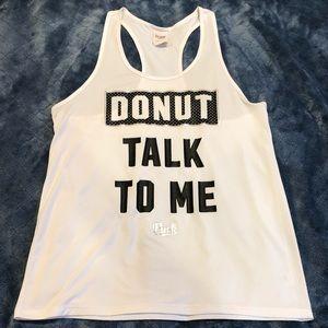"""""""Donut talk to me"""" Activewear Racerback Shirt"""